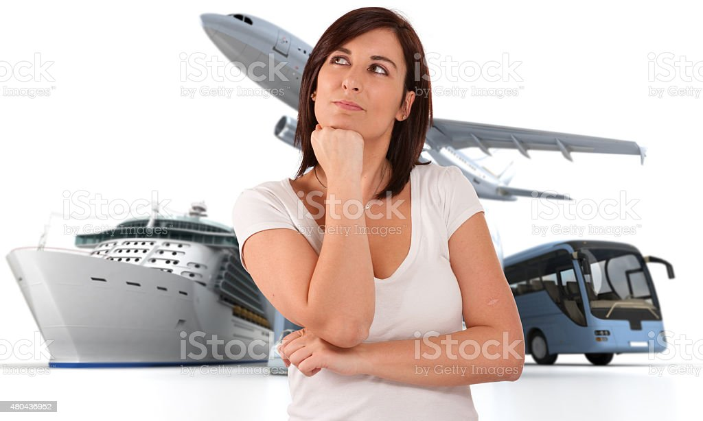 Round the world trip dreaming stock photo