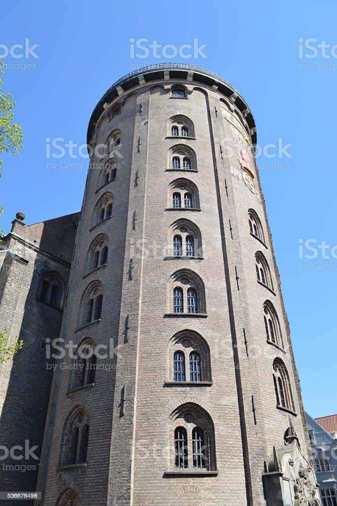Torre redonda copenhague foto de stock libre de derechos