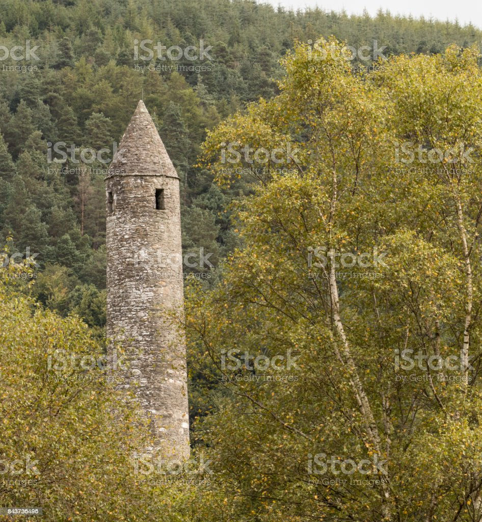 Round Tower, Glendalough stock photo