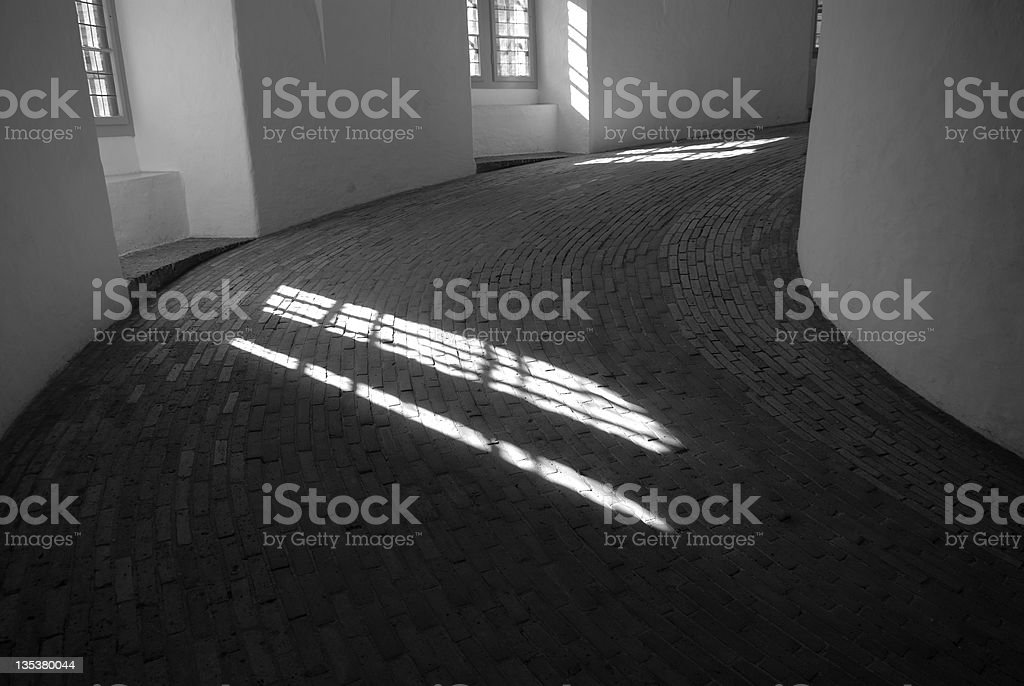 Round Tower Staircase royalty-free stock photo