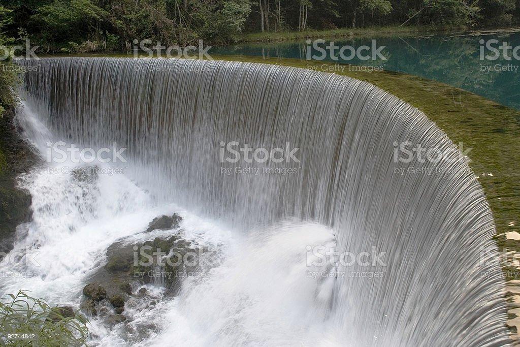 Round waterfall at Guizhou, China stock photo