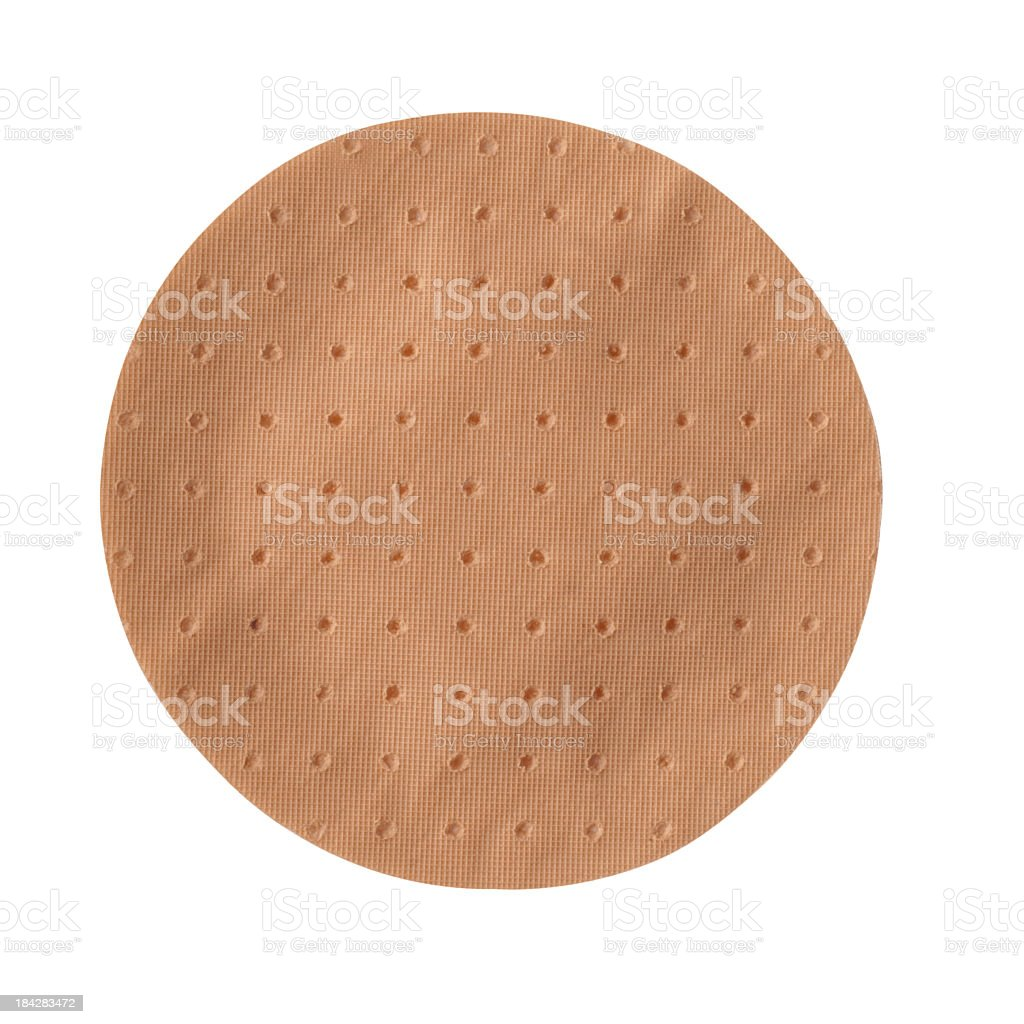 Round waterproof bandage with clipping path stock photo