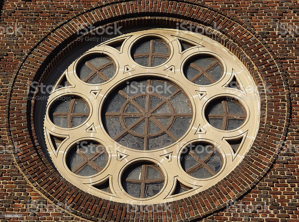 Round Window royalty-free stock photo