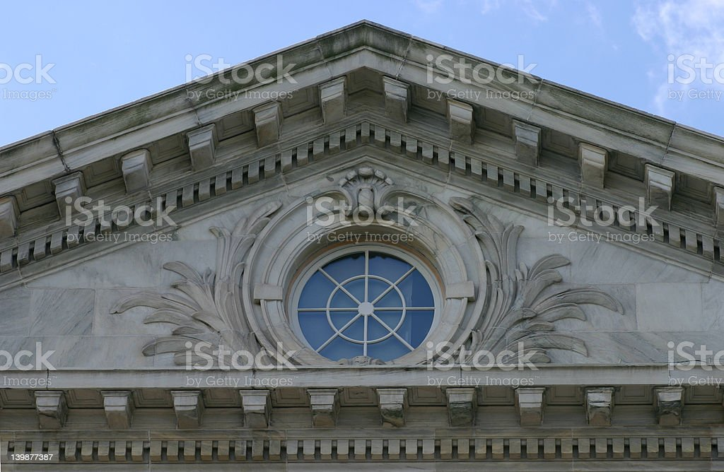 round window stock photo