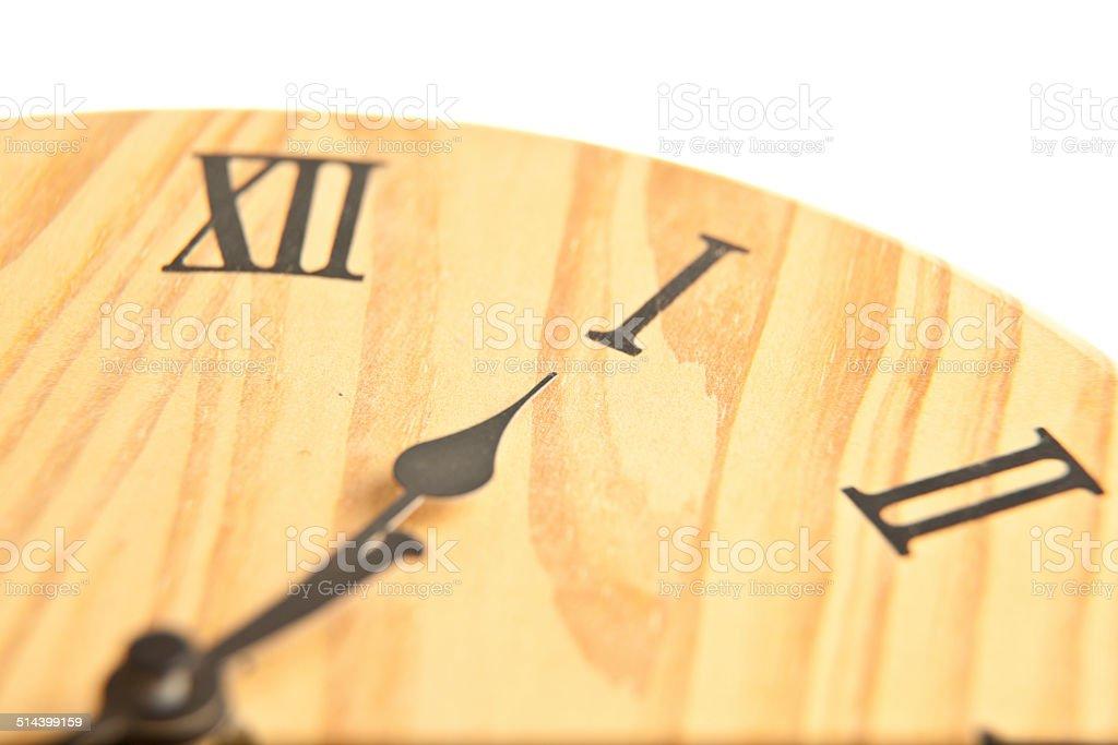 Круглый деревянный часы Стоковые фото Стоковая фотография