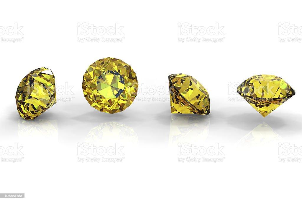 Round yellow sapphire royalty-free stock photo