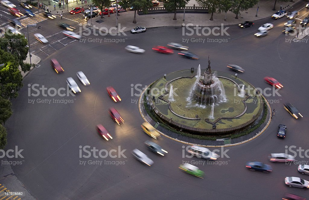 Roundabout around the Diana the Huntress fountain royalty-free stock photo