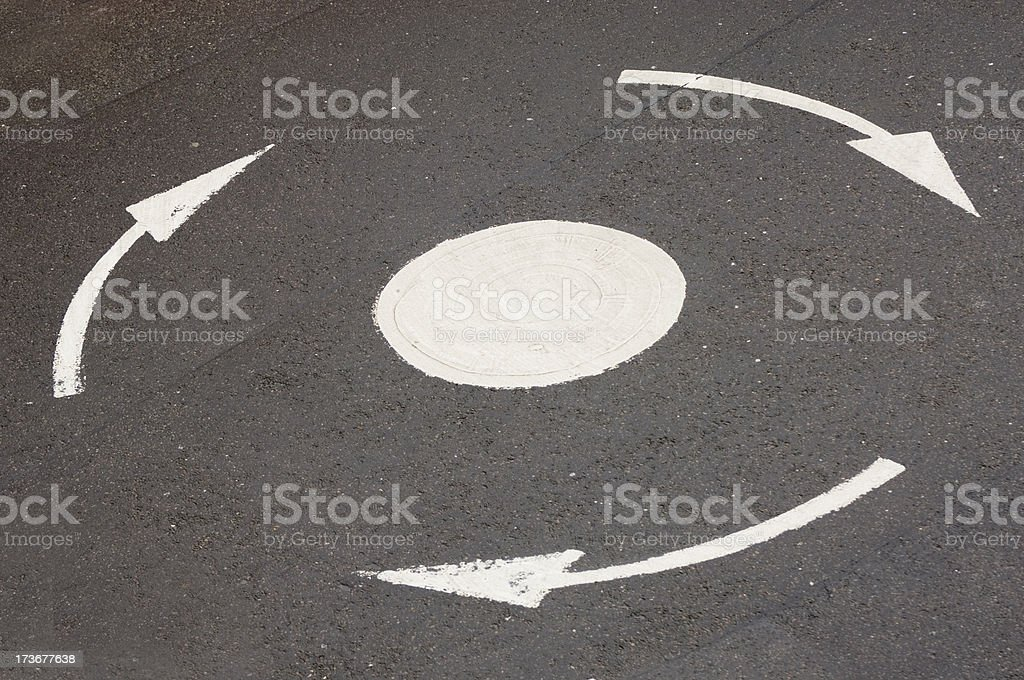 Roundabout royalty-free stock photo