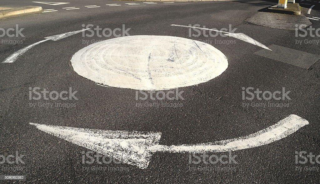 Roundabout stock photo
