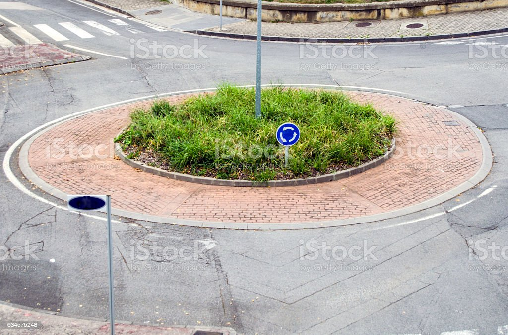 Roundabout stock photo