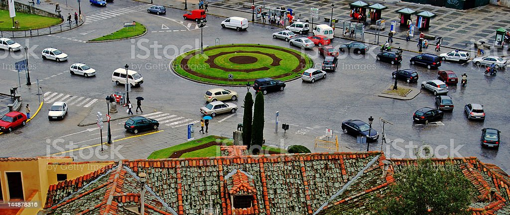 Roundabout Spain royalty-free stock photo