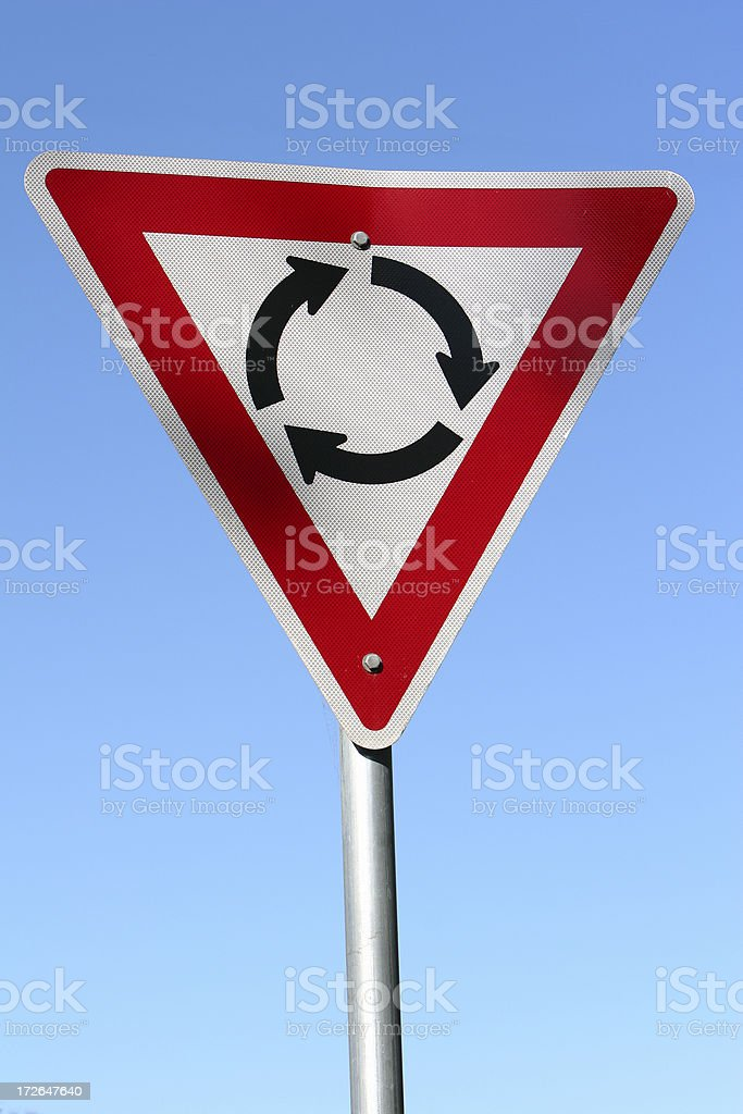 Roundabout street sign royalty-free stock photo