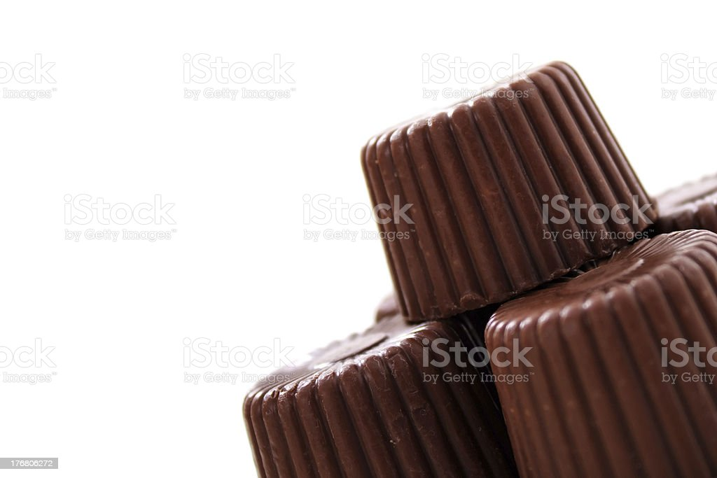 Rounded chocolate from corner royalty-free stock photo