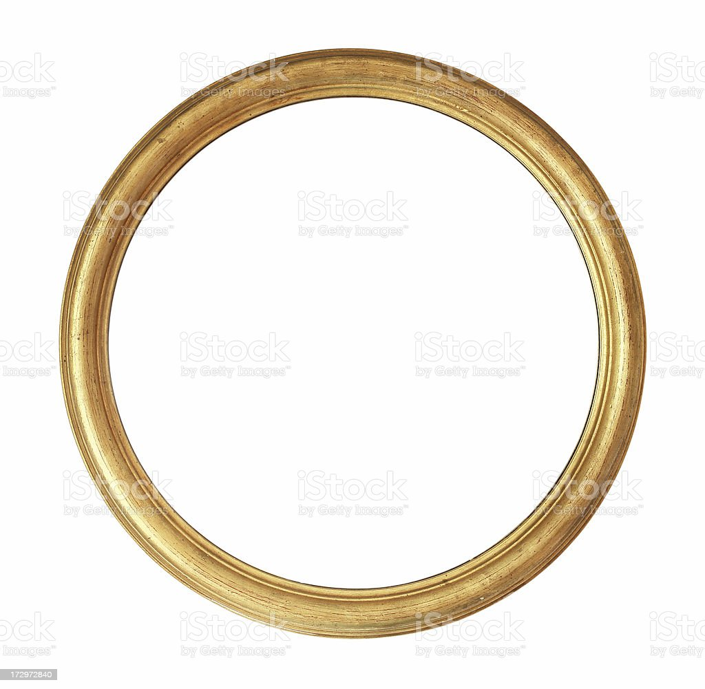 Rounded Golden Frame stock photo