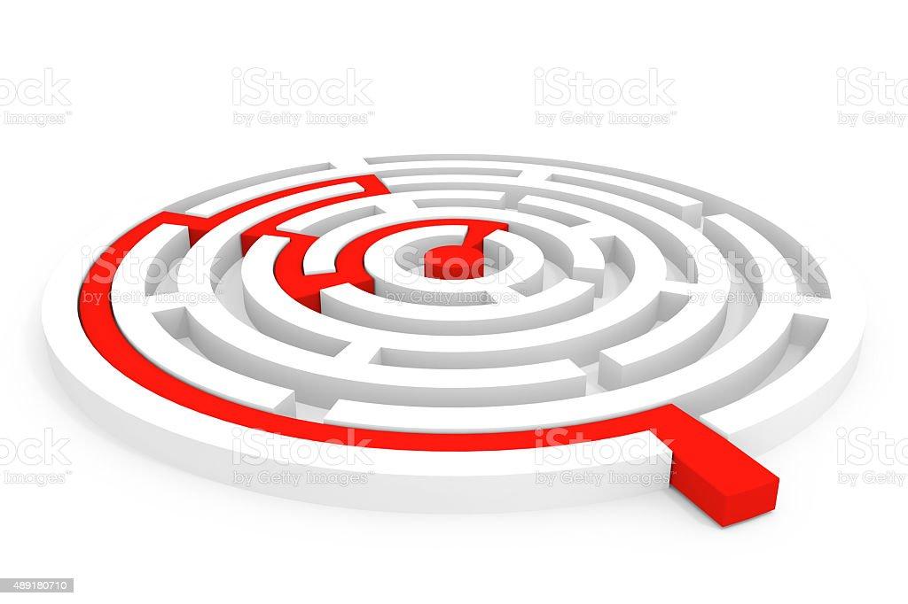 Rounded maze stock photo