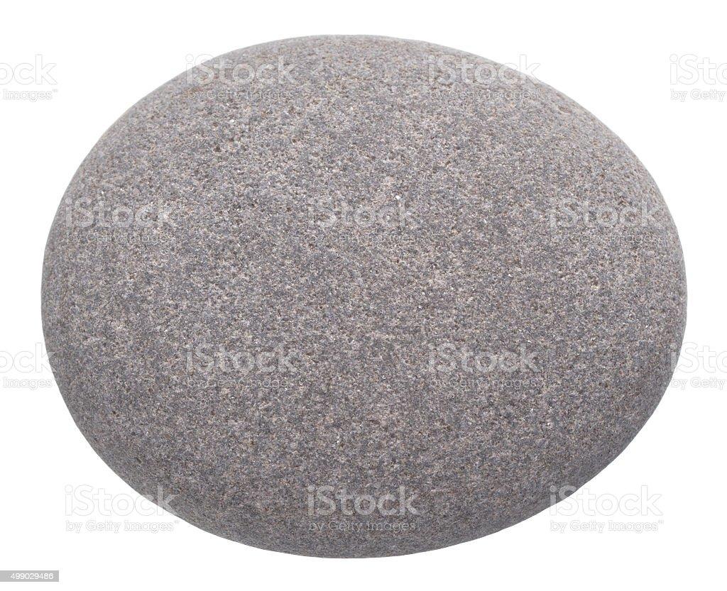 rounded pebble isolated on white background stock photo