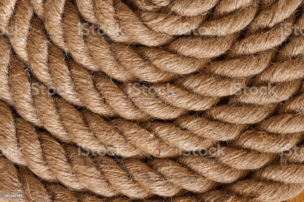 Rounded rope pattern close up stock photo