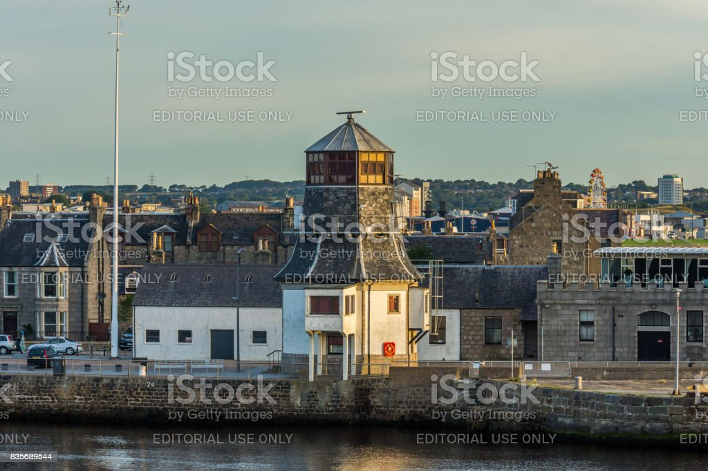 Roundhouse at Aberdeen Harbour. stock photo