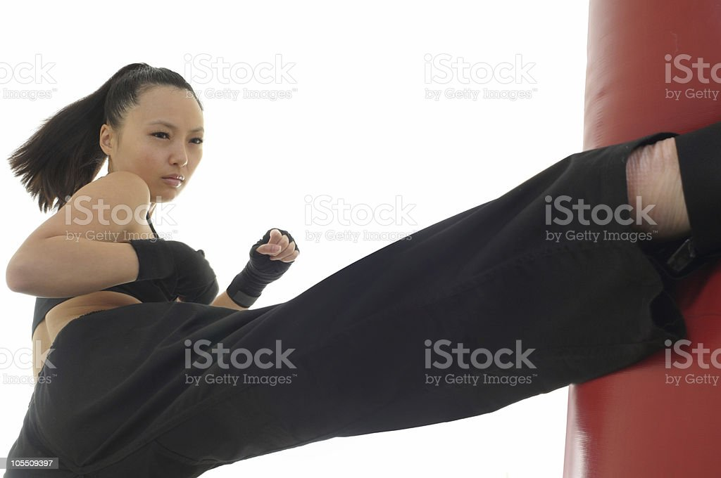 Roundhouse workout royalty-free stock photo
