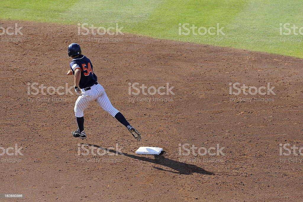 Rounding second base stock photo