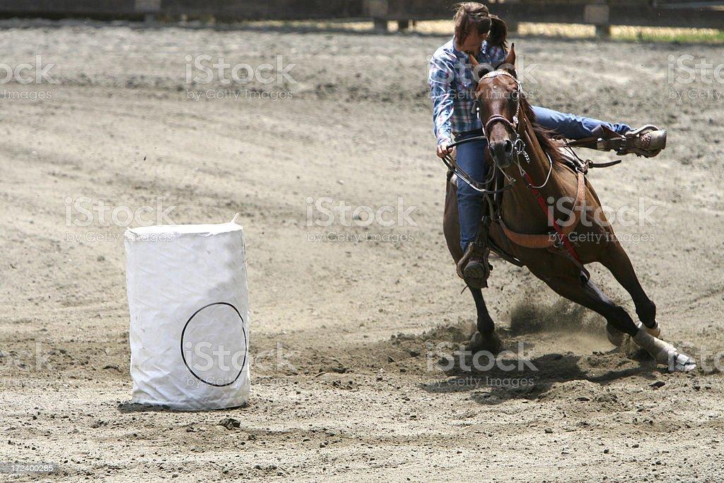 Rounding the Barrel stock photo