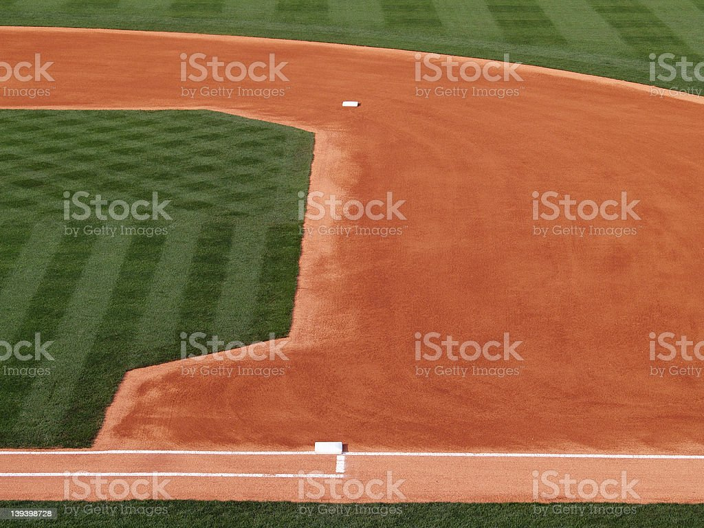 Rounding the Bases royalty-free stock photo