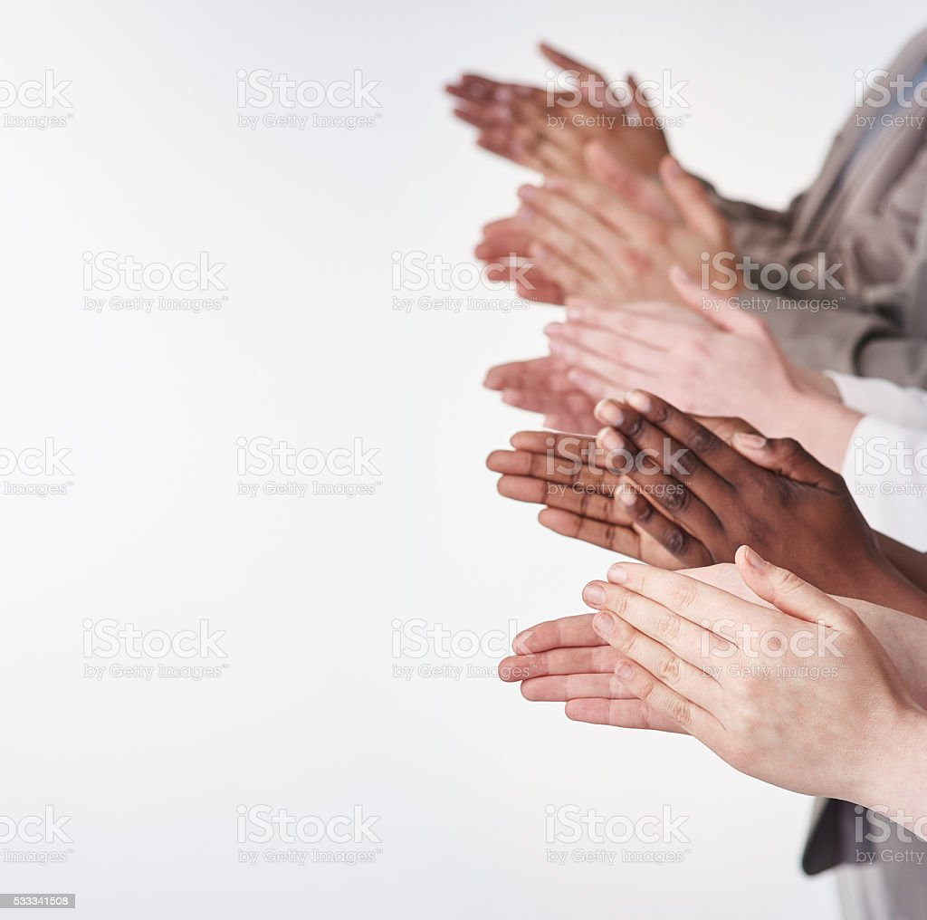 Rounds of applause stock photo