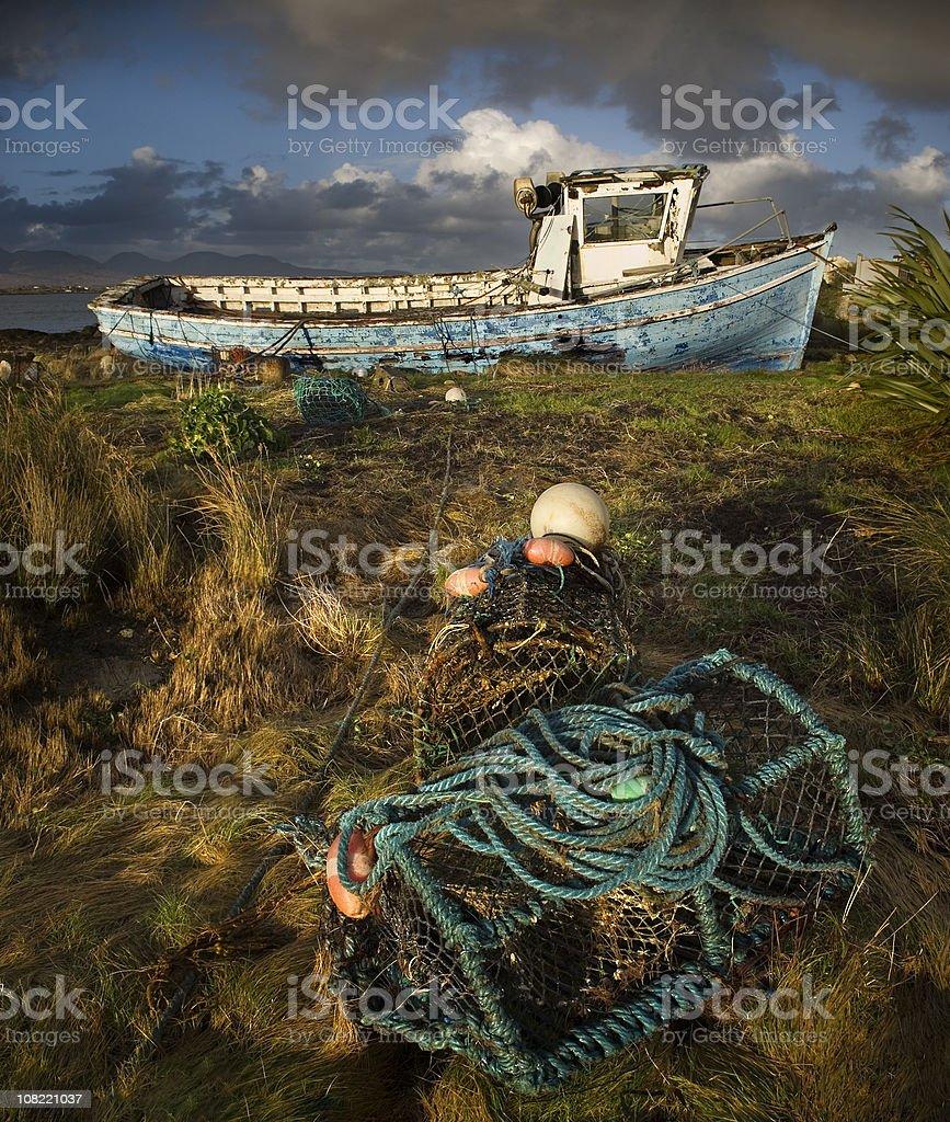 Roundstone blue ship royalty-free stock photo