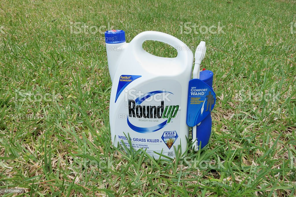 Roundup Weed and Grass Killer royalty-free stock photo