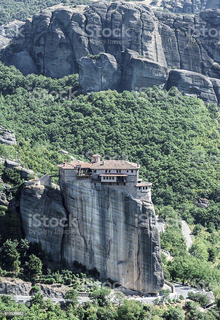 Roussanou Monastery in Meteora stock photo