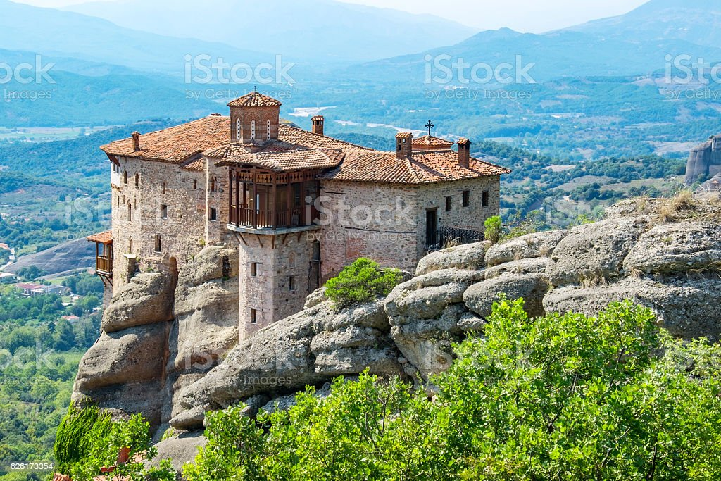 Roussanou Monastery. Meteora, Greece stock photo