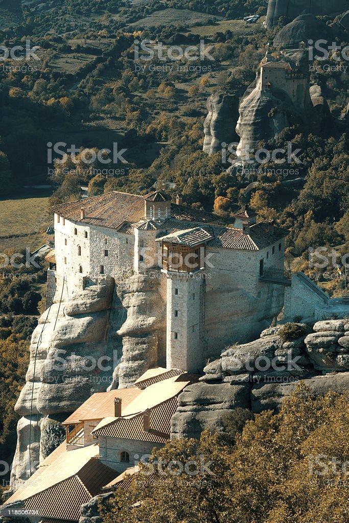 Roussanou Monastery royalty-free stock photo