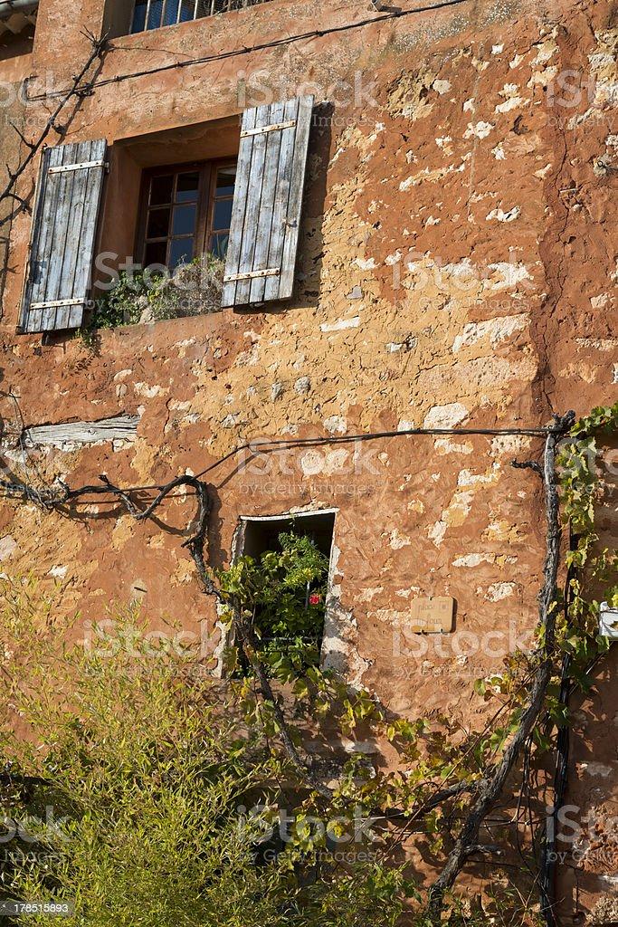 Roussillon facade royalty-free stock photo