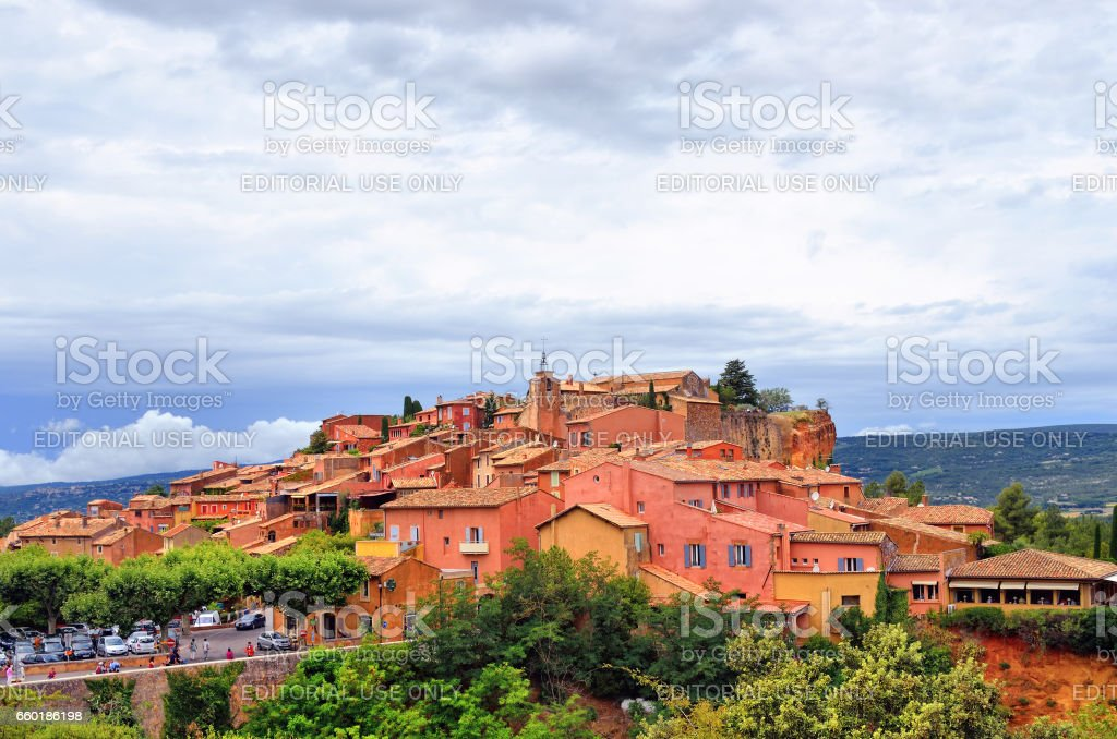 Roussillon, France stock photo
