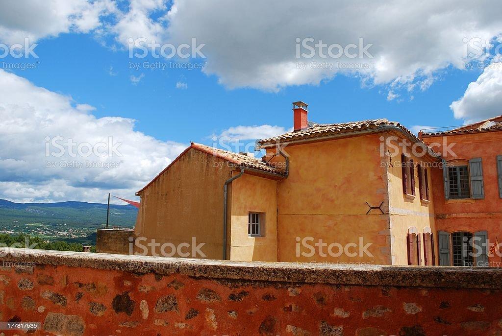 Roussillon village, France royalty-free stock photo
