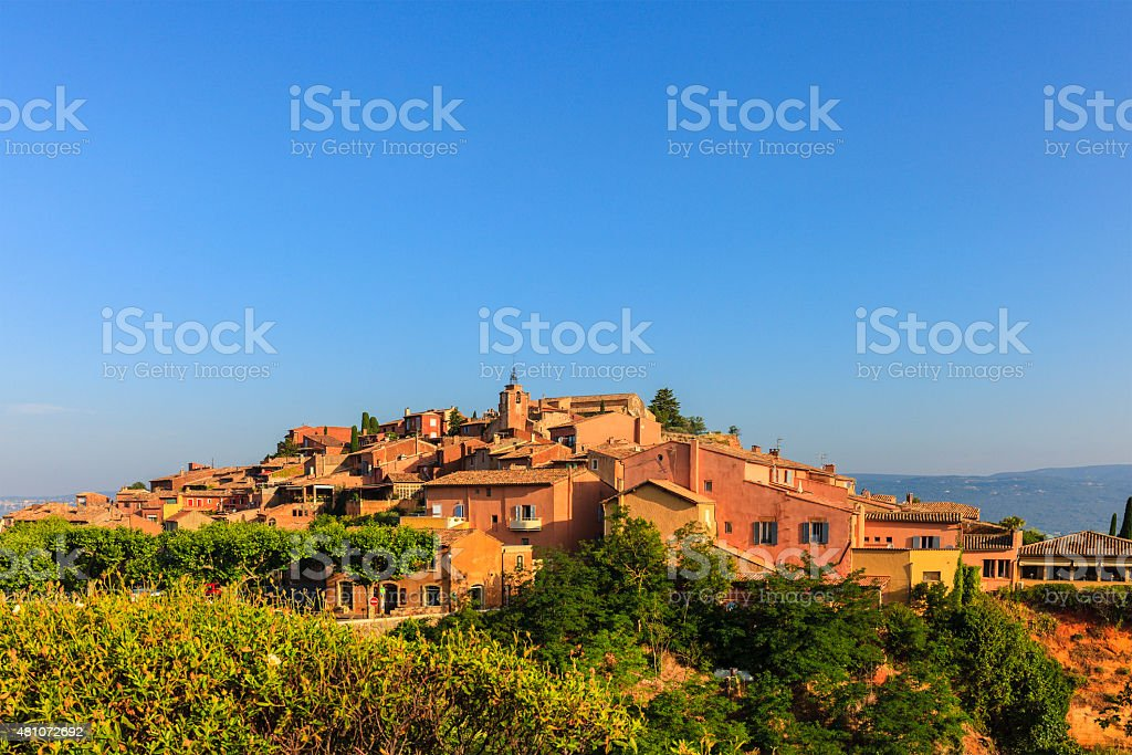 Roussillon Village, France stock photo