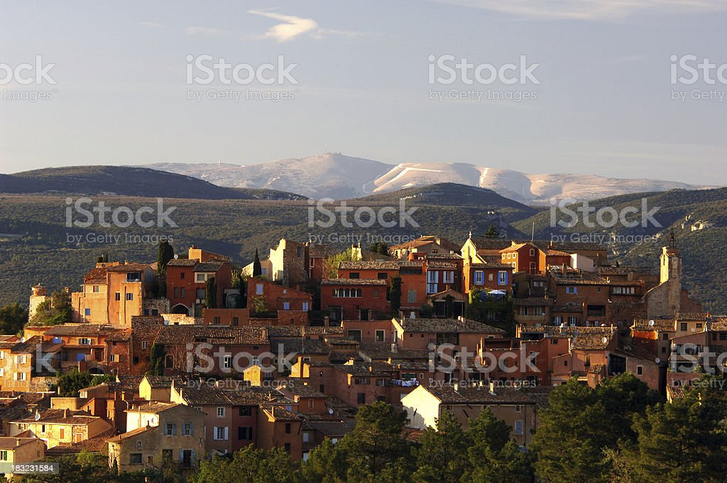 Roussillon with Mont Ventoux 2 stock photo