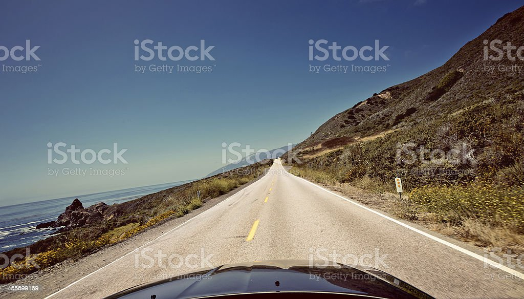 Route 1, also known as the Pacific Coast Highway stock photo