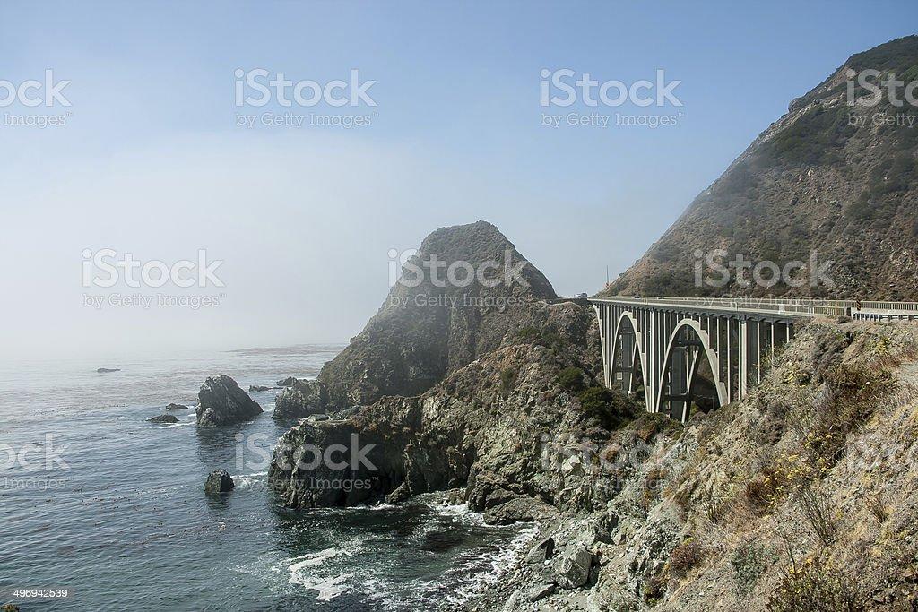 Route 1 through Big Sur stock photo