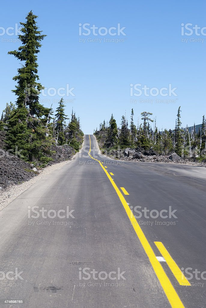 Route 232 in Oregon royalty-free stock photo