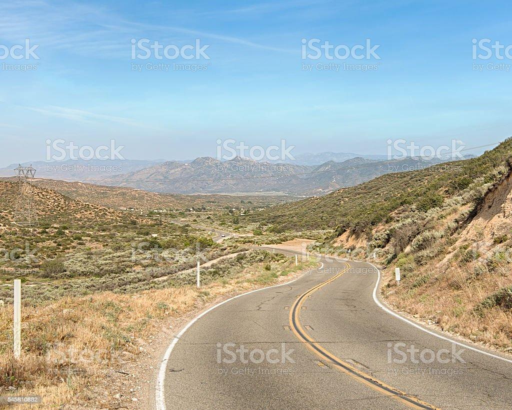Route 66: Cajon Pass, Angeles Crest Scenic Highway, CA stock photo