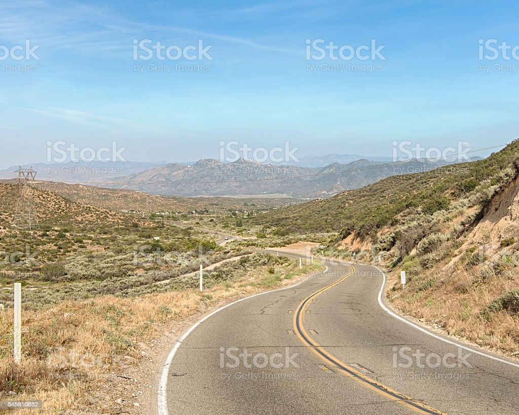 Route 66: Cajon Pass, Angeles Crest Scenic Highway, CA stock photo