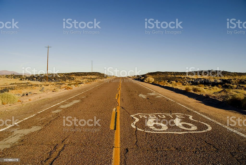 Route 66 California stock photo