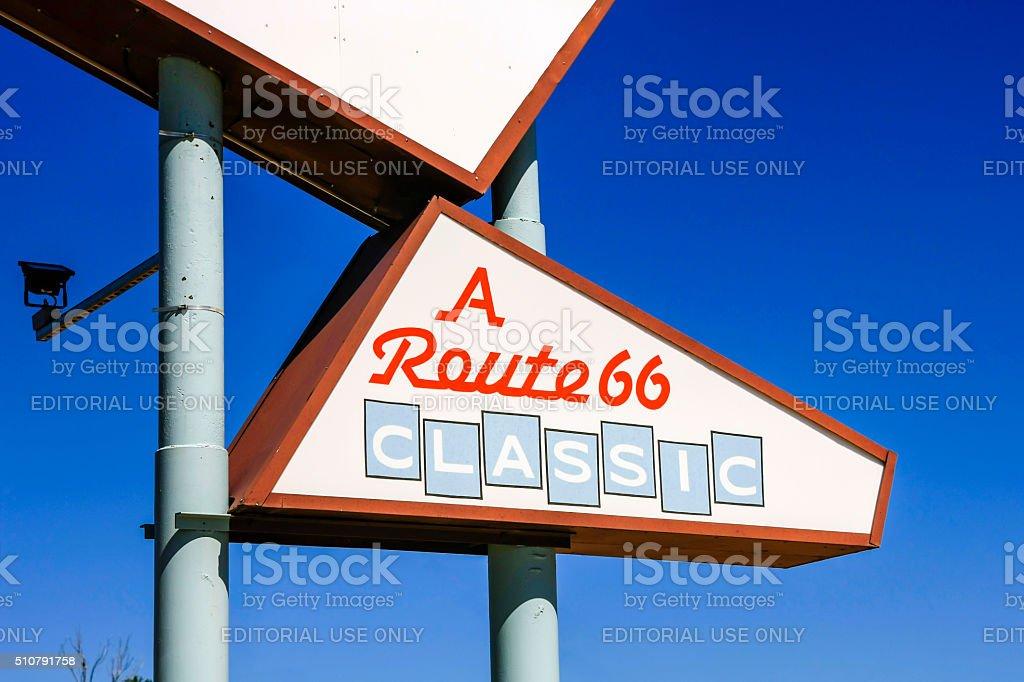 Route 66 Classic Sign in Tucumcari New Mexico stock photo