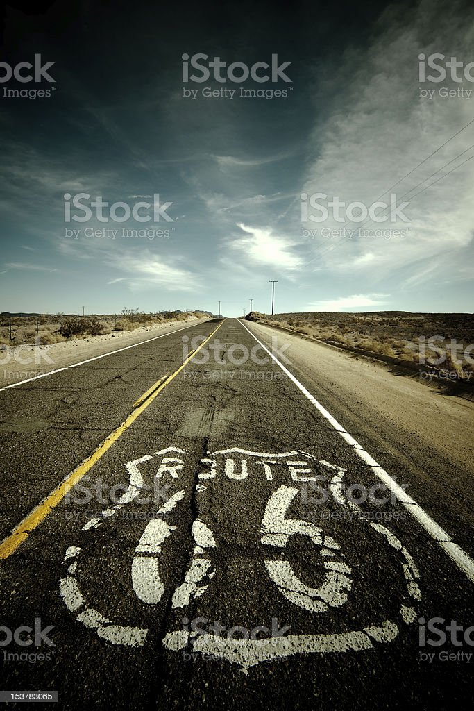 Route 66 - Desert royalty-free stock photo