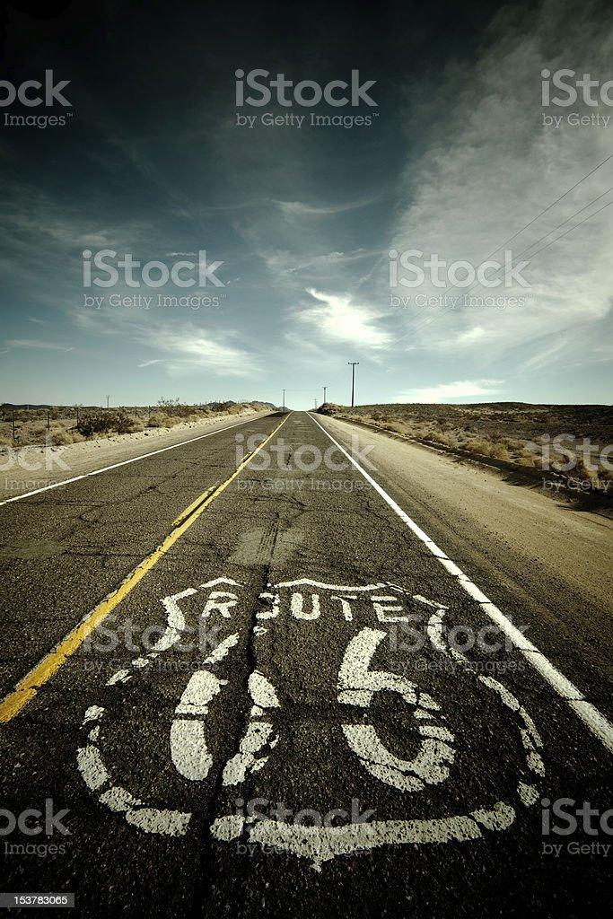 Route 66 - Desert stock photo