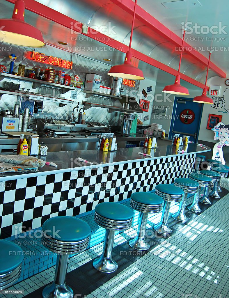 Route 66 Diner in Albuquerque royalty-free stock photo