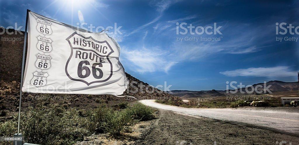 Route 66 Flag stock photo