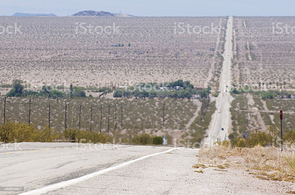 Route 66 - hot desert royalty-free stock photo