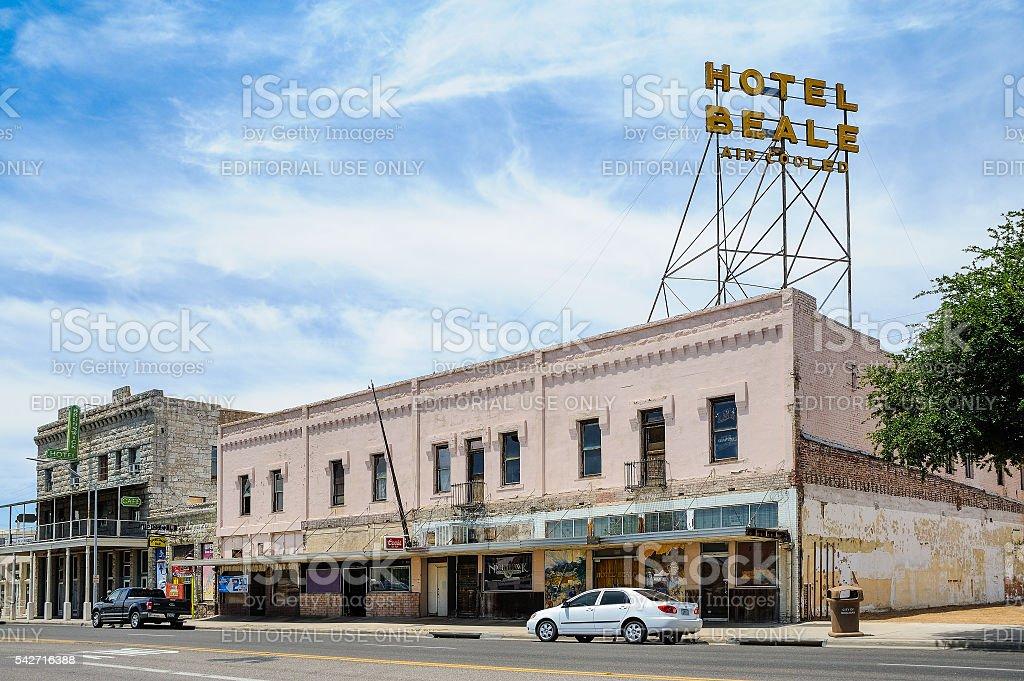 Route 66, Hotel Beale, Kingman, AZ, USA stock photo